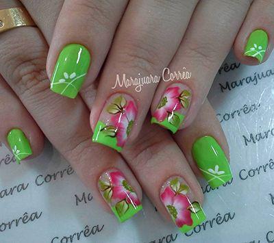 unhas decoradas verdes 5