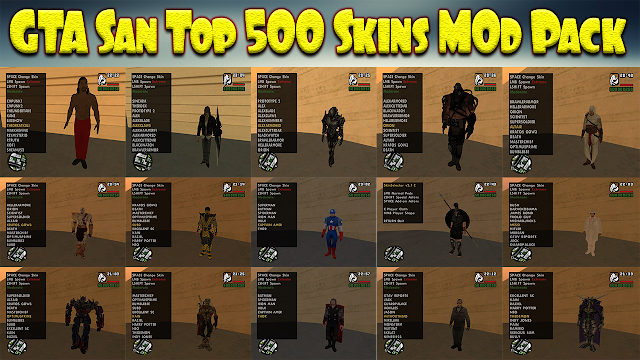GTA San Andreas Top Skins Pack