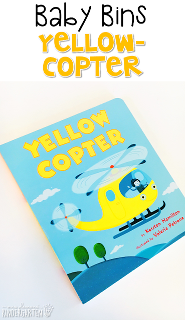 Yellowcopter is the perfect yellow themed read aloud for little ones. These Baby Bin plans are perfect for learning with little ones between 12-24 months old.