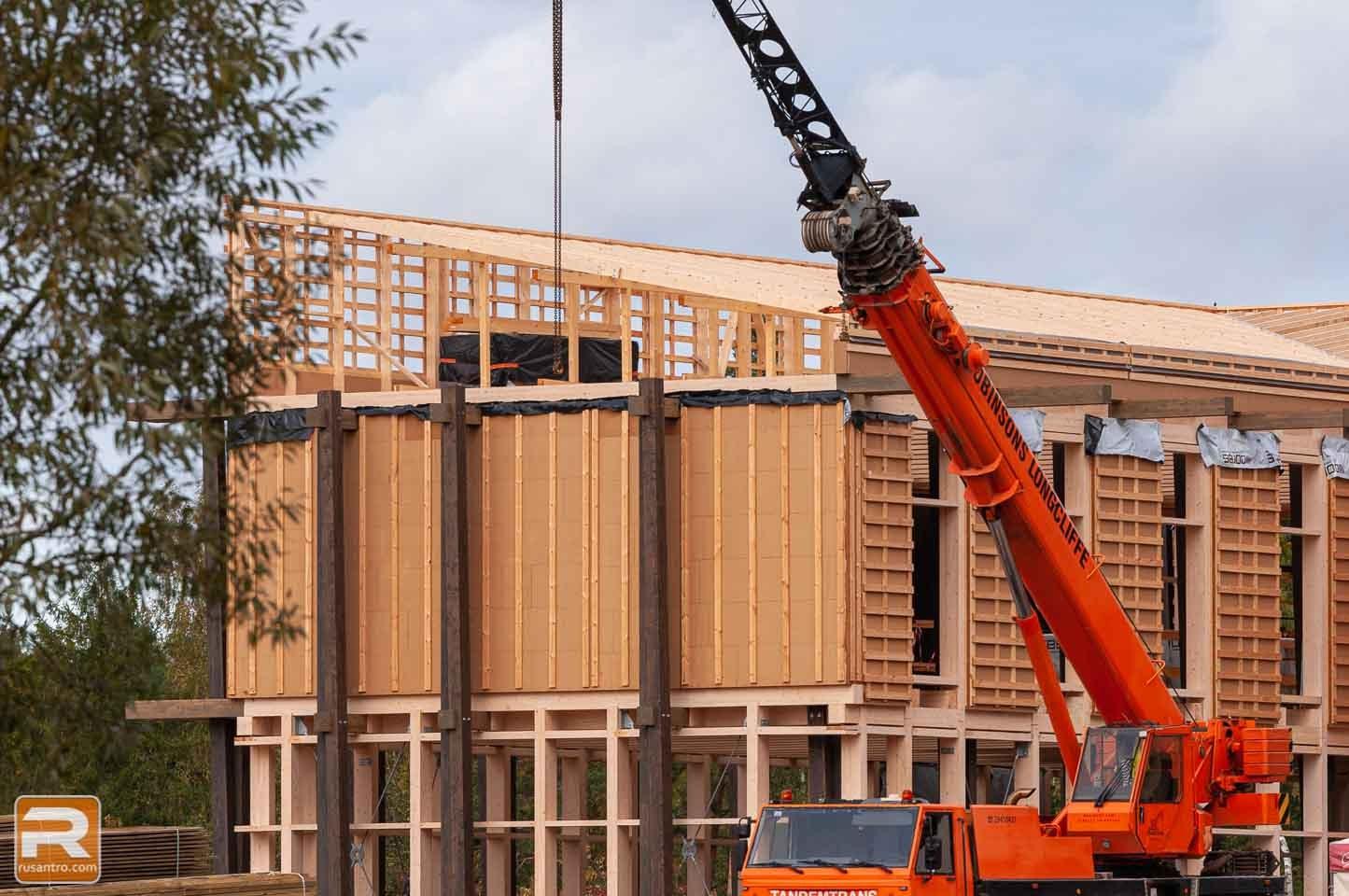 Koka biroja ēka Jelgavā būvniecība 2