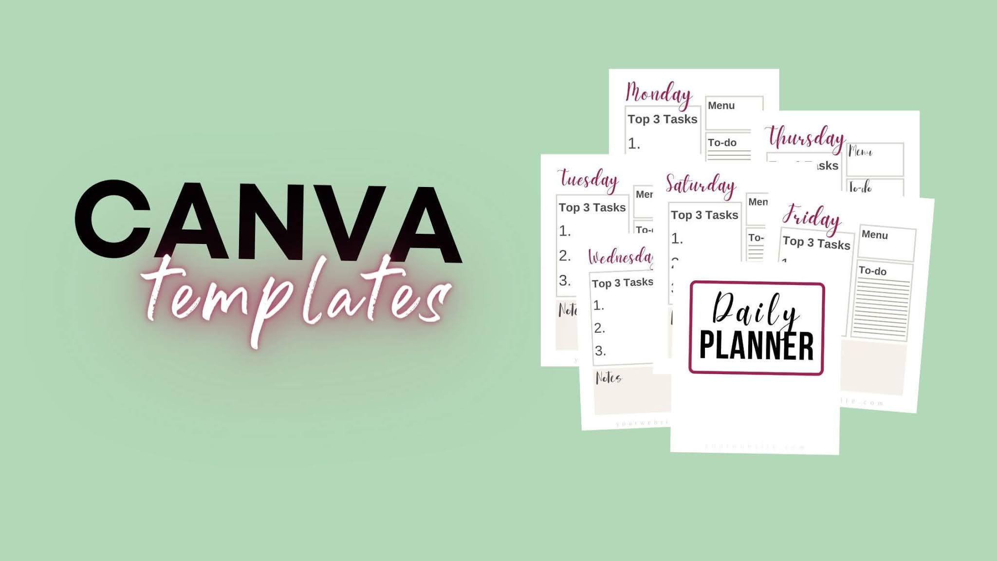 Daily Planner For Moms Canva Templates