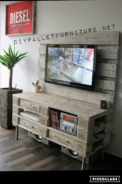 genial mueble para la tv. Black Bedroom Furniture Sets. Home Design Ideas