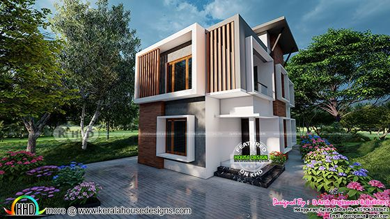 D Arch Engineers & Builders Kerala home design