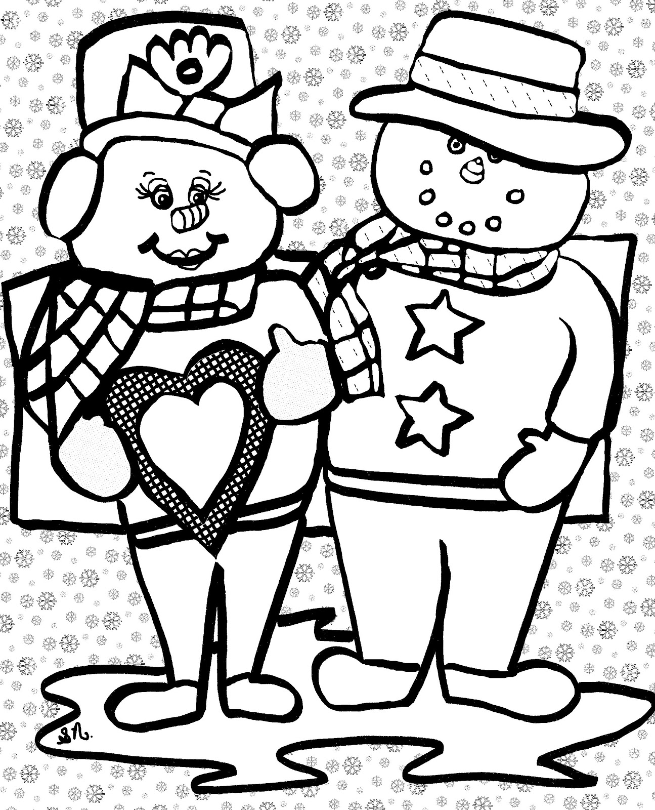Christian Images In My Treasure Box Home Drawn Snowmen