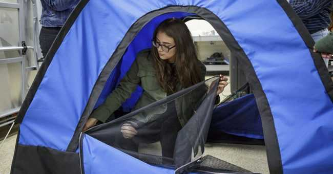 All-Girl Engineer Team Invents Solar-Powered Tent For The Homeless