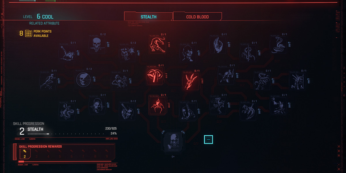 Cyberpunk 2077 guide. How to reset skills?