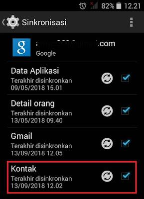 Cara menyimpan atau mencadangkan kontak telepon di server gmail