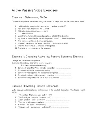 Active Passive Voice Exercises