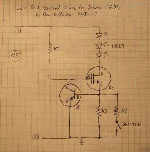 Constant Current Circuit Using Led Eleccircuitcom