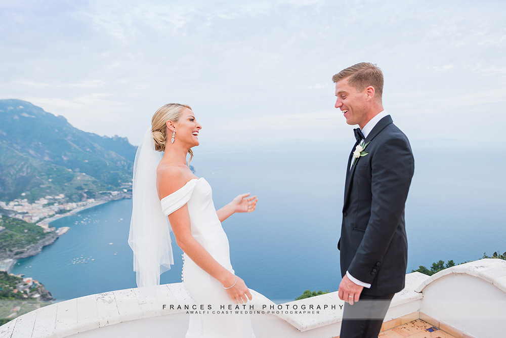 Bride changes wedding dress to surprise groom