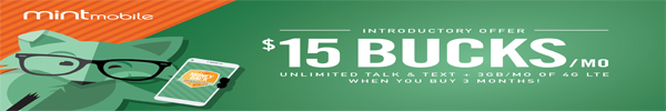 15 dollars for unlimited talk and text with 3GB of data per month LTE