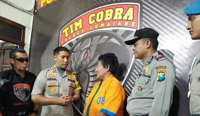 Retno diamankan Tim Cobra