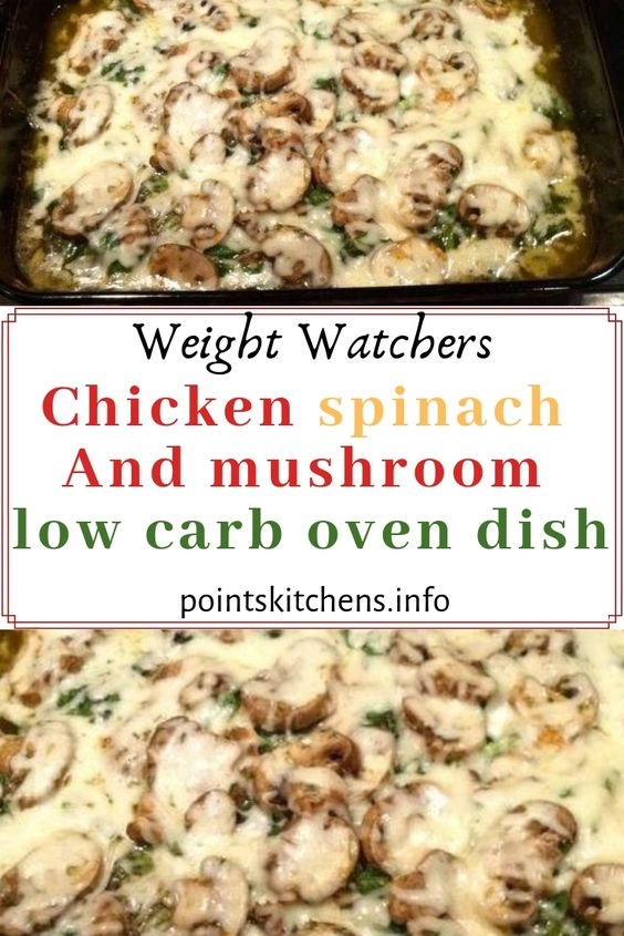 Chicken Spinach And Mushroom Low Carb Oven Dish