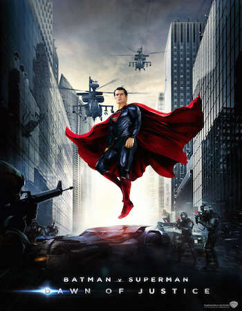 Poster Of Batman v Superman Dawn of Justice 2016 Dual Audio 720p TSRip [Hindi – English] Free Download Watch Online
