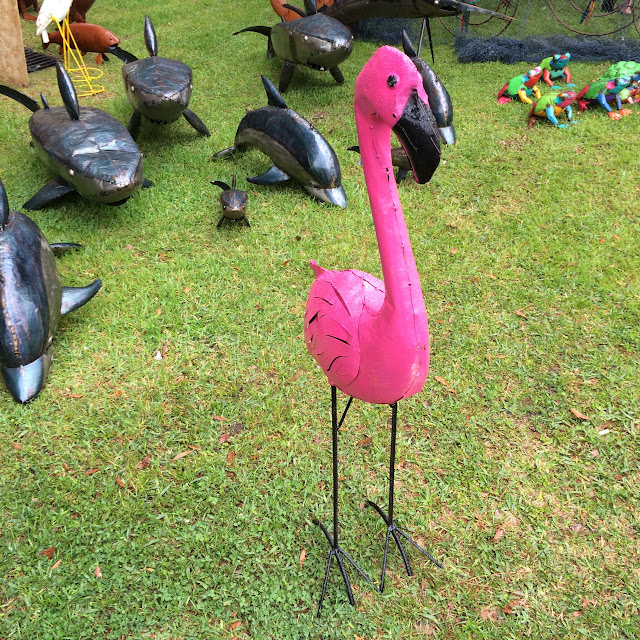 Summerville Flowertown Festival 2016 - Flamingo Yard Art | The Lowcountry Lady