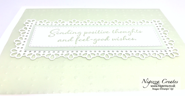 Nigezza Creates with Stampin' Up! Ornate Frame, So Very Vellum, Positive Thoughts Card