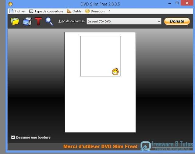 DVD Slim Free :  un logiciel gratuit pour imprimer facilement ses pochettes (CD, DVD, Bluray, etc)