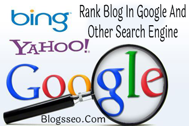 Blog In Google And Other Search Engine