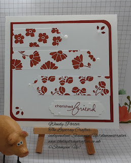 Cherished friend card using the Lovely You stamp set and punch bundle from Stampin' Up!
