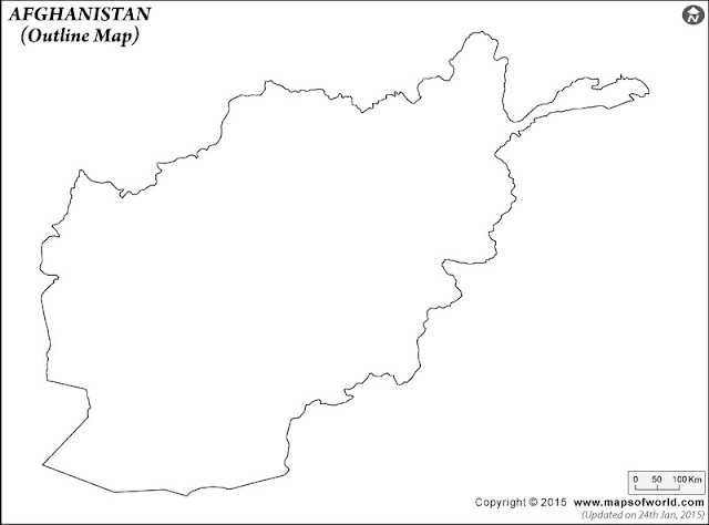 Outline of Afghanistan Map
