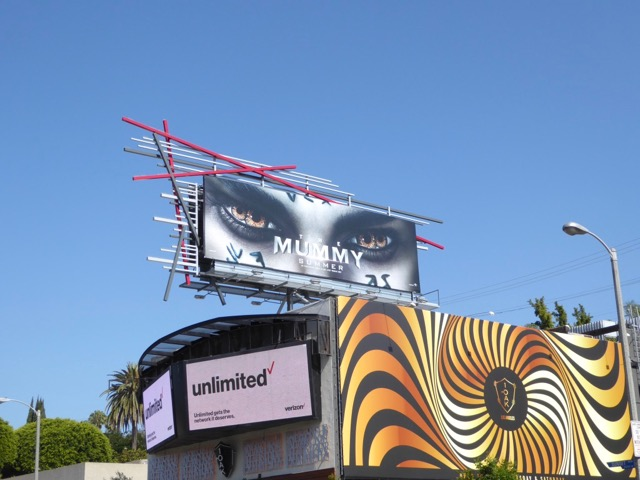 Mummy film billboard