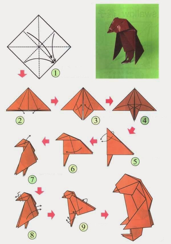 3d origami diagram animals smoke damper wiring animal instructions of the diagrams projects art and craft easy kids dachshund