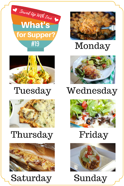 Supper Sunday and make meal time a breeze. Recipes included this week are Chili Tater Tot Casserole, Easy Taco Pizza, Honey Garlic Shrimp, and so much more!