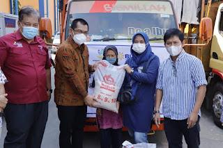 Pemerintah Provinsi Lampung bersama Perum Bulog Divre Lampung Luncurkan Program Bantuan Beras PPKM 2021