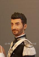 statuette gus personalizzata sposo in alta uniforme carabinieri orme magiche