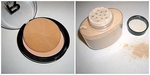 polvos de maquillaje para fotos