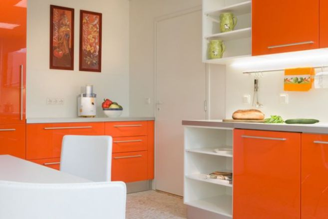 Cabinets for Kitchen Pictures of Orange Kitchen Cabinets