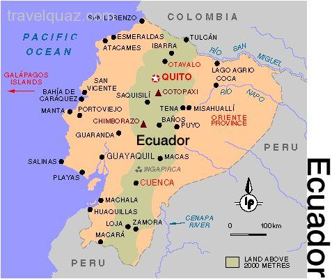 Banos Lago.Backpacks And Flipflops Ecuador Under The Volcano In
