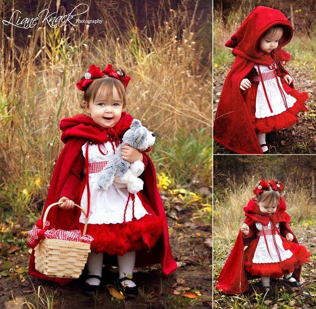 Capa Y Disfraz De Caperucita Roja Con Patrones Disfraz Casero