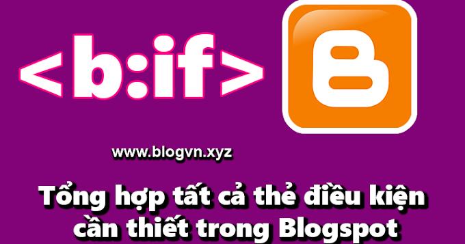 Thẻ điều kiện b:if cho tất cả các trang trong blogspot