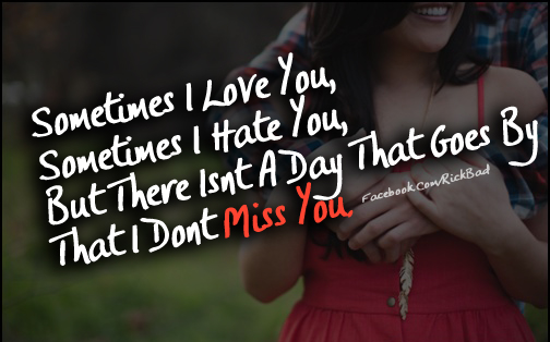 Miss You Quotes | Sometimes I Love You Couple Love Hug Fun