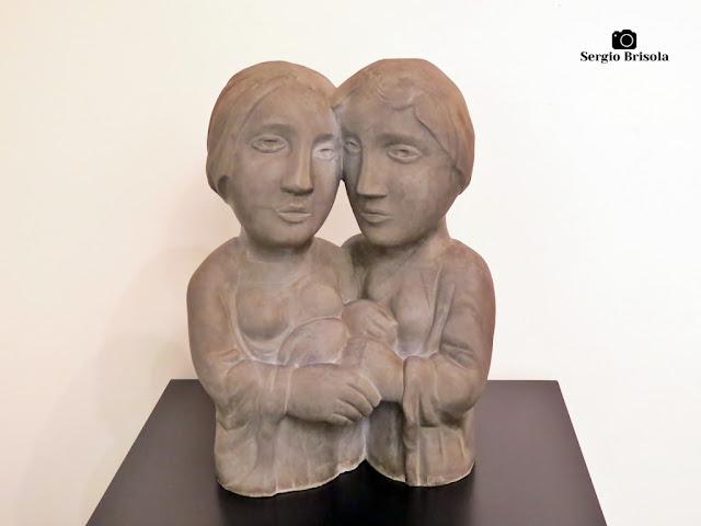 Close-up da Escultura Duas Amigas - Museu Lasar Segall - São Paulo