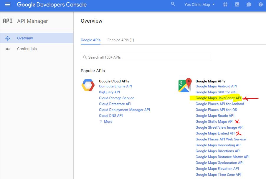 Metadata google maps api credentials http - Google map api key console ...