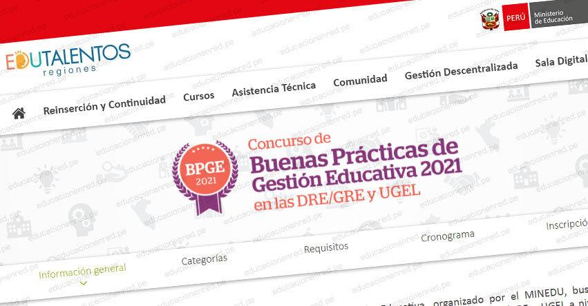 MINEDU convoca al Concurso de Buenas Prácticas de Gestión Educativa. Inscripción hasta el 14 de octubre