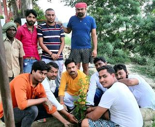 सामाजिक संस्था ने मंदिर परिसर में किया पौधरोपण | #NayaSaberaNetwork