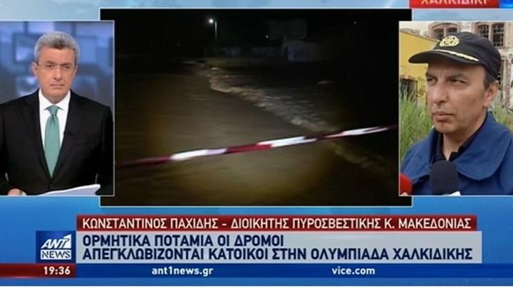 """Παχίδης στον ΑΝΤ1: """"Bαριές πληγές"""" στην Ολυμπιάδα από την κακοκαιρία"""