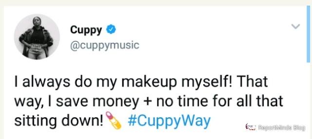 I Do My Makeup To Save Money – DJ Cuppy