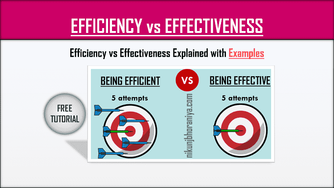 Difference Between Efficiency vs Effectiveness