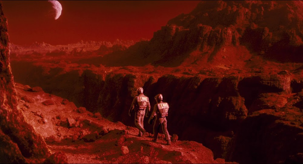Martian landscape in Total Recall 1990 movie