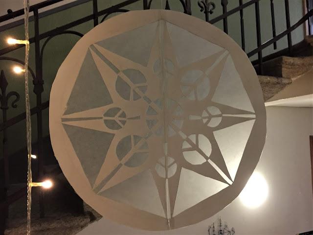 Stern im Treppenhaus