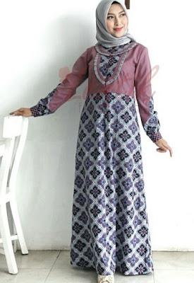 Model Gamis Batik Pesta untuk remaja