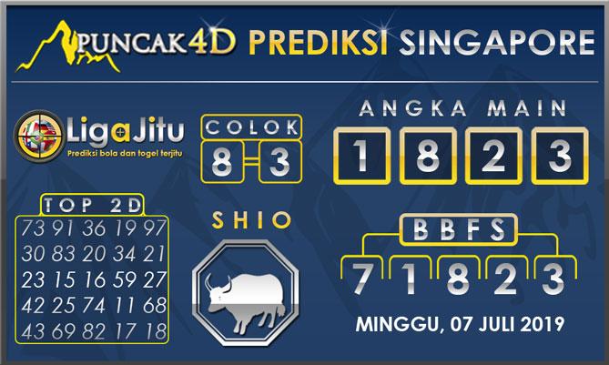 PREDIKSI TOGEL SINGAPORE PUNCAK4D 07 JULI 2019