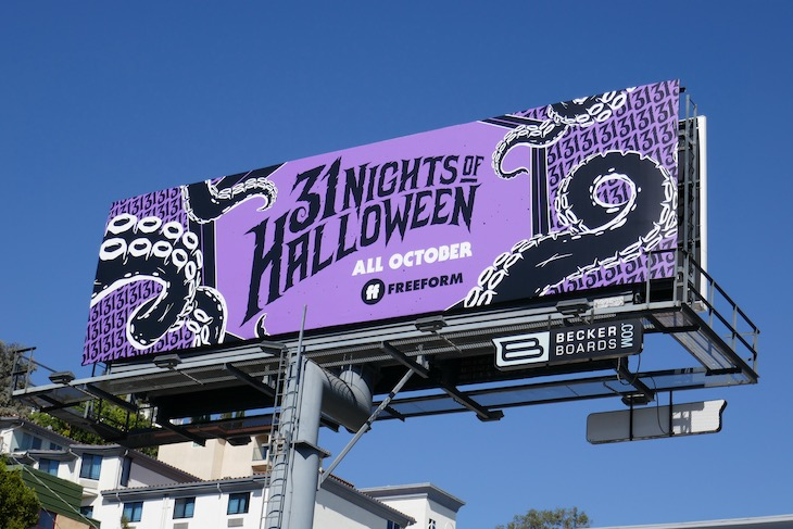 Freeform 31 Nights of Halloween tentacles billboard
