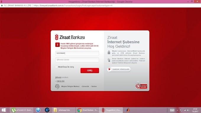 Ziraat Bankası Yurt Dışı IP Hatası Çözümü %100