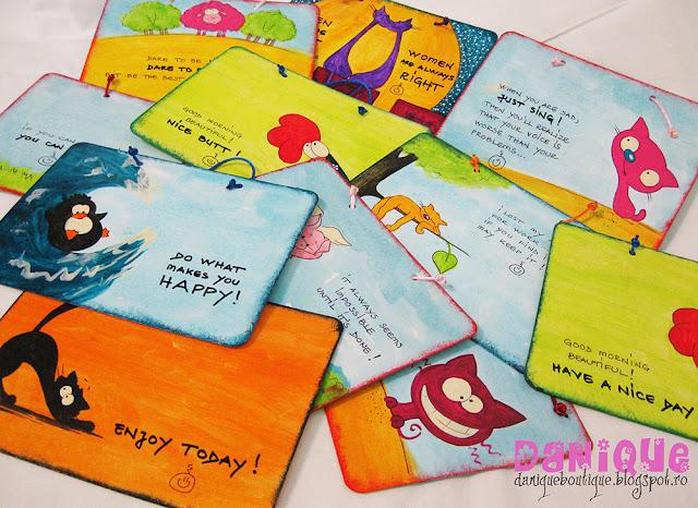 cartonase pictate, cu texte motivationale