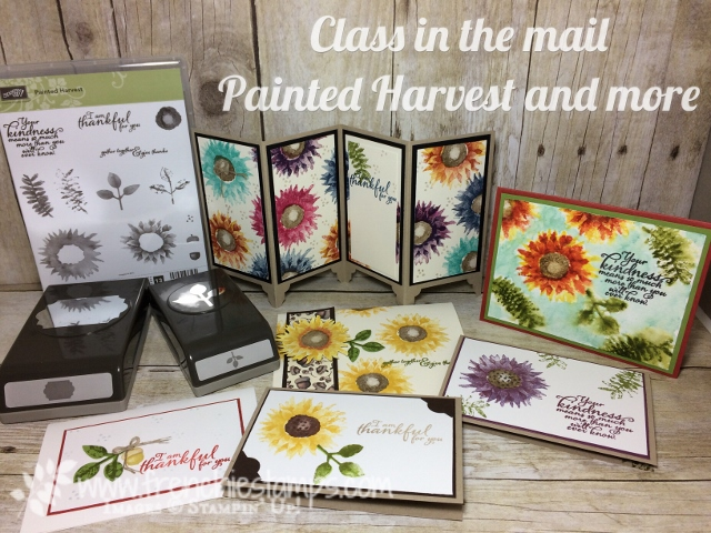 Painted Harvest, Stamping class in the mail, Frenchiestamps, Stampin'Up!, Leaf Punch, Everyday Label Punch